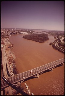 Looking South From The Key Bridge. The Potomac, Here, Is A Muddy Color, April 1973