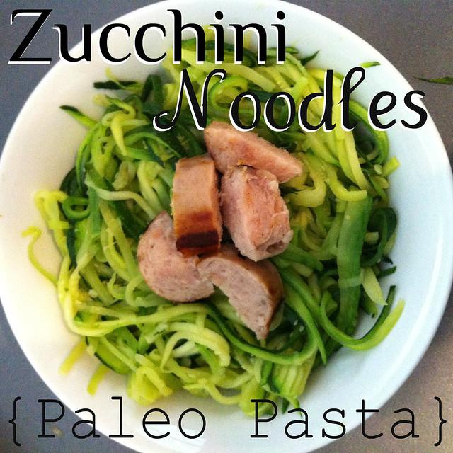 Zucchini Noodles {Paleo Pasta}