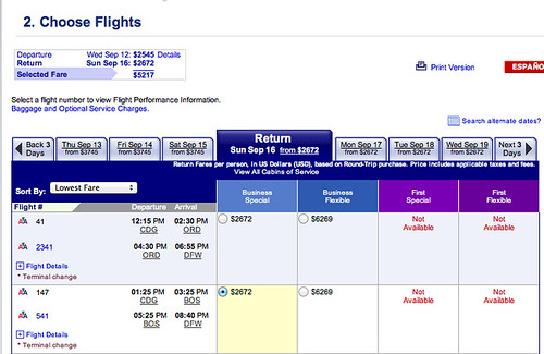 DFW to Paris Regular Price