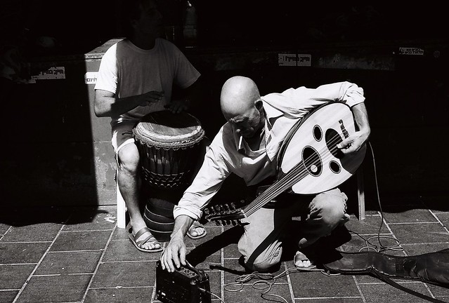 Музыканты на рынке