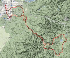 The route for the High Rock 300