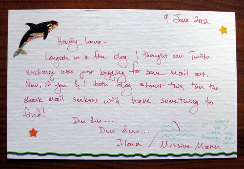Shark Mail to Laura, back