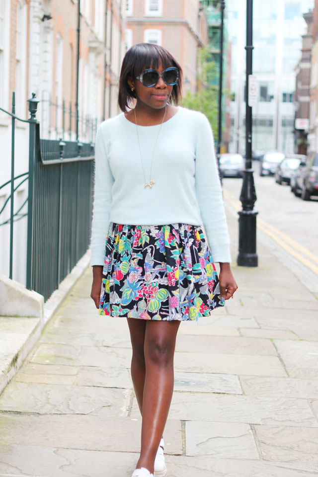 mint pastel nelly jumper pattern skirt