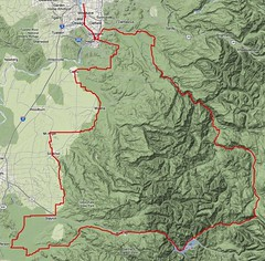 The route for the Hot Springs - Covered Bridges 400k