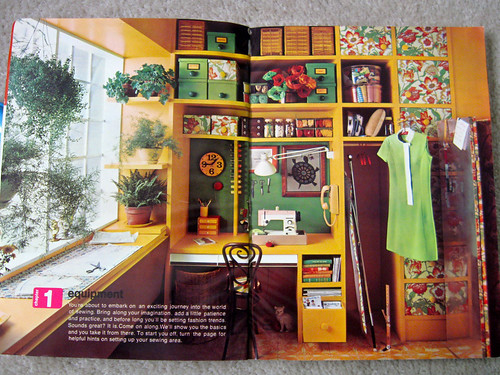 Simplicity book sewing room