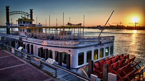 sunrise neworleans steamboat hdr paddlewheel mississippirivermississippi d5100