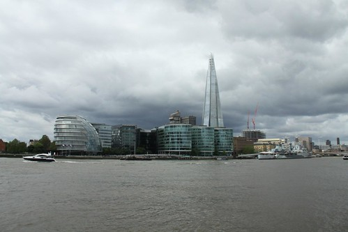 The Shard stands head, shoulders and knees above the other buildings on the South Bank.