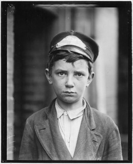 Richard Pierce, Western Union Telegraph Co. Messenger No. 2. 14 years of age. 9 months in service, works from 7 a.m. to 6 p.m. Smokes and visits houses of prostitution, May 1910