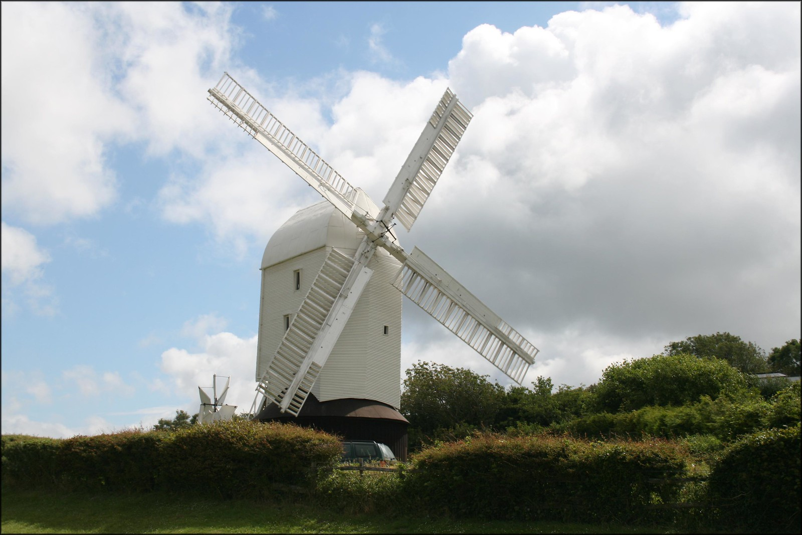 Jill windmill, Clayton The Clayton Windmills known as Jack and Jill. This one is known as Jill and was spinning when this photo was taken.