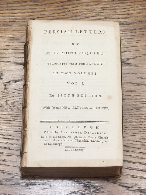•1773 Montesquieu Persian Letters vol 2- 06