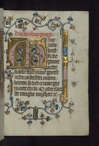 Illuminated Manuscript, Doffinnes Hours, Floral Decoration, Walters Manuscript W.185, fol. 226r by Walters Art Museum Illuminated Manuscripts