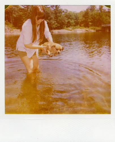 summer Polaroid - in goes Gracie!