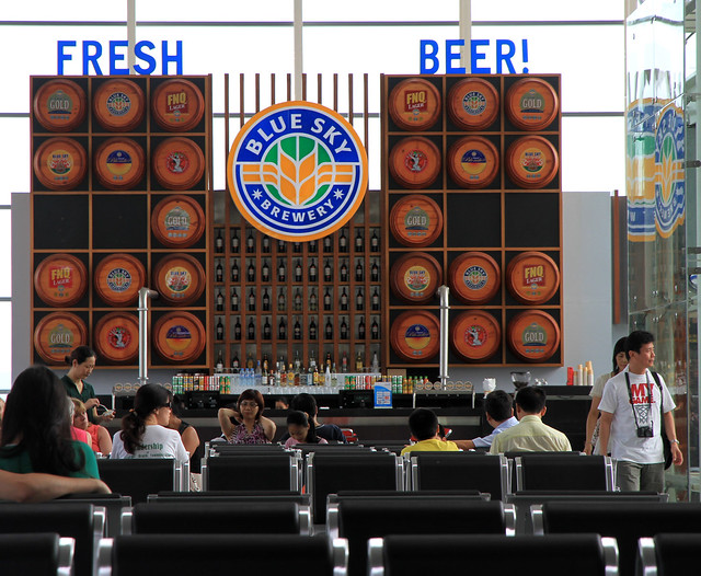 New airport Danang - drinking