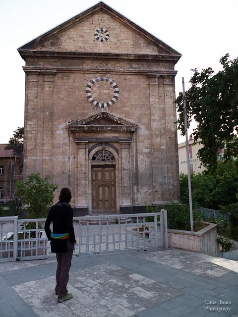 Fachada de la iglesia de Kindirli