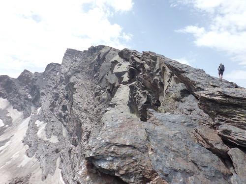 Moving towards the peak of Veleta