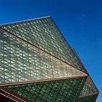 ShenZhen Universiade Sports Centre: Faceted Glass Triangles