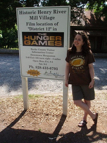 Me at the filming site of District 12.