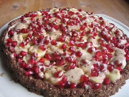 Banana-Granatapfel-Torte