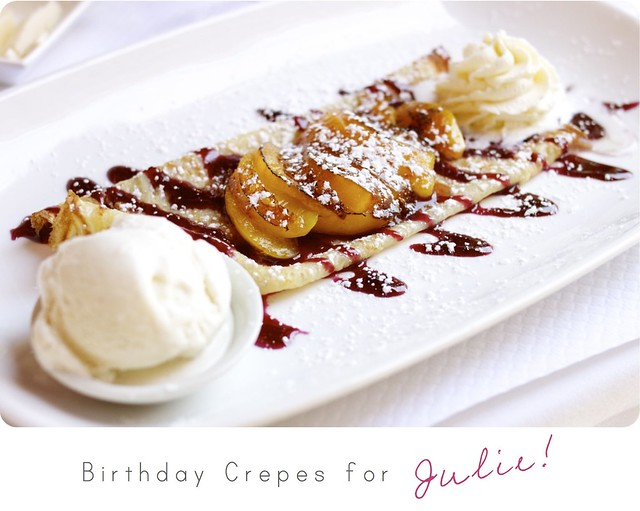 bday crepes for julie