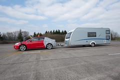 Opel Astra Limousine Anhängertest