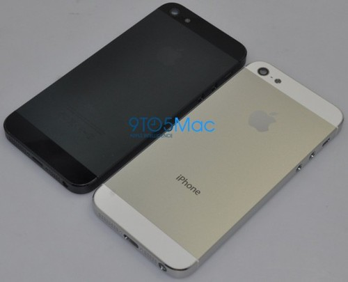 iPhone5予想画像-黒と白の背面
