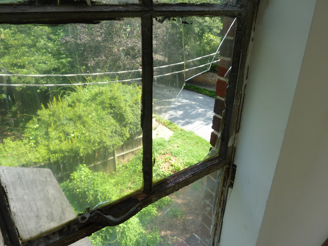 P1100167-2012-07-13-Lizzie-Chapel-Baptist-Church-Inman-Park-Atlanta-Sanctuary-Metal-window-broken-glass