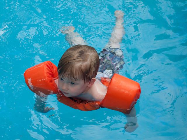 Jackson swimming