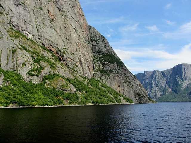 Cliffs on Western Brook Pond