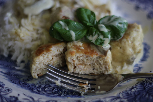 Chicken Meatballs with Mushrooms