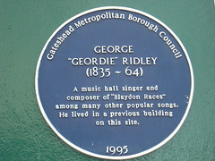 "Photo of George ""Geordie"" Ridley blue plaque"