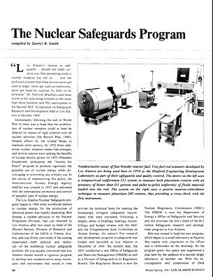 The Nuclear Safeguards Program