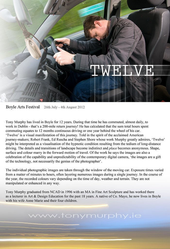 TWELVE Poster Boyle Arts 2012