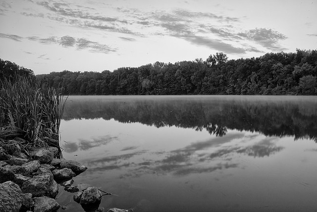 Morning shot at miami whitewater lake i tried to captured the mist