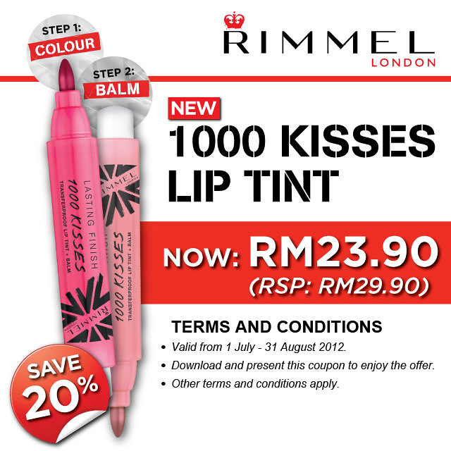 Rimmel London Malaysia 1000 Kisses Lip Tint Promo