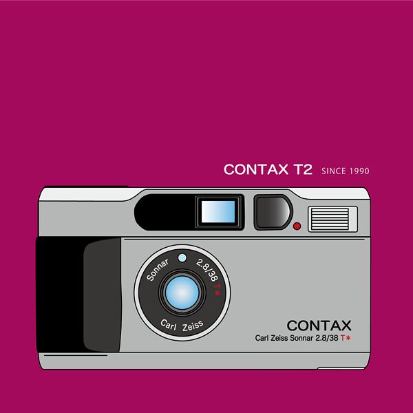 CONTAX T2 Illustration