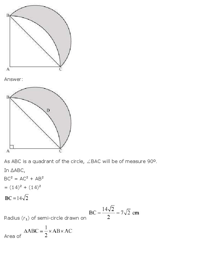 NCERT Solutions For Class 10 Maths Chapter 12 Areas related to Circles PDF Download 2018-19 FREEHOMEDELIVERY.NET