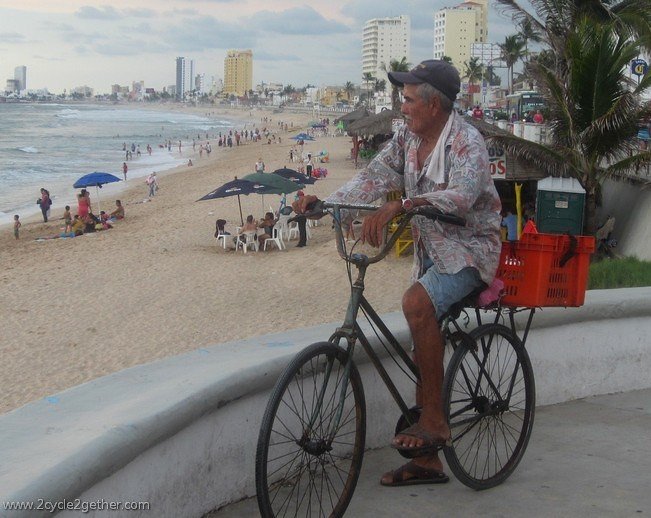 A man and his bike, Mazatlan.