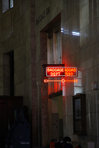 Portland - Union Station Baggage Dept Sign