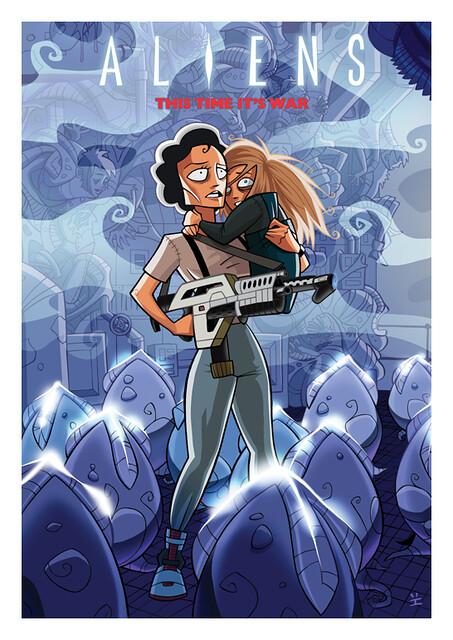 Posters de Filmes em animações alien