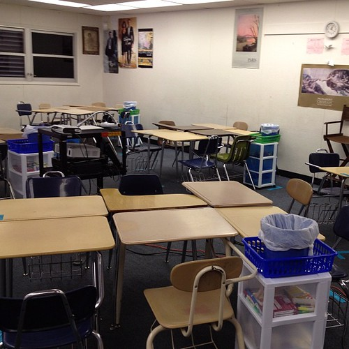 Classroom is ready. I love school supplies.