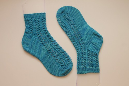 Finished hedera socks