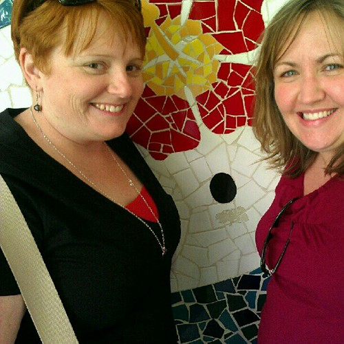 Day 7 - Lauren and me and a Hello Kitty mosaic
