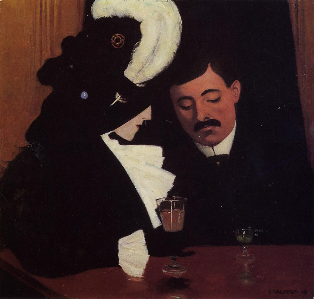 At the Cafe by Felix Vallotton - 1909