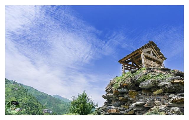 Small hut on top of a mountain in Janjehli valley