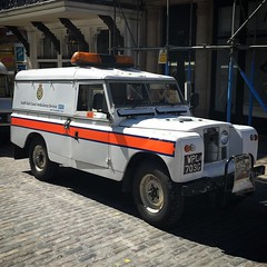 Type 2 ambulance on G'Ford High St yesterday #landroverseries2