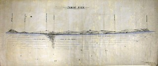 Survey drawing of Tamaki River mouth as seen from Bucklands Beach, signed Lt. Col. Arthur Morrow c1904