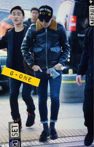 G-Dragon & TOP - Incheon Airport - 30jan2015 - G-Dragon - G-One - 01