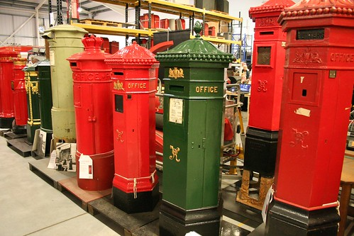 Modestly ornate letter boxes