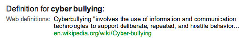 Definition of Cyber Bullying