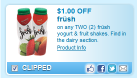 frush Yogurt & Fruit Shakes. Find In The Dairy Section.  Coupon
